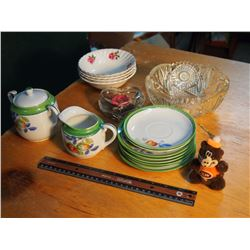 Lot Of Matching Dishware With Extras