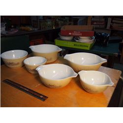 Lot Of Matching Pyrex Bowls
