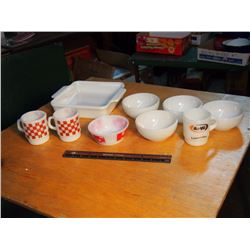 Lot Of Fire King Bowls & Cups