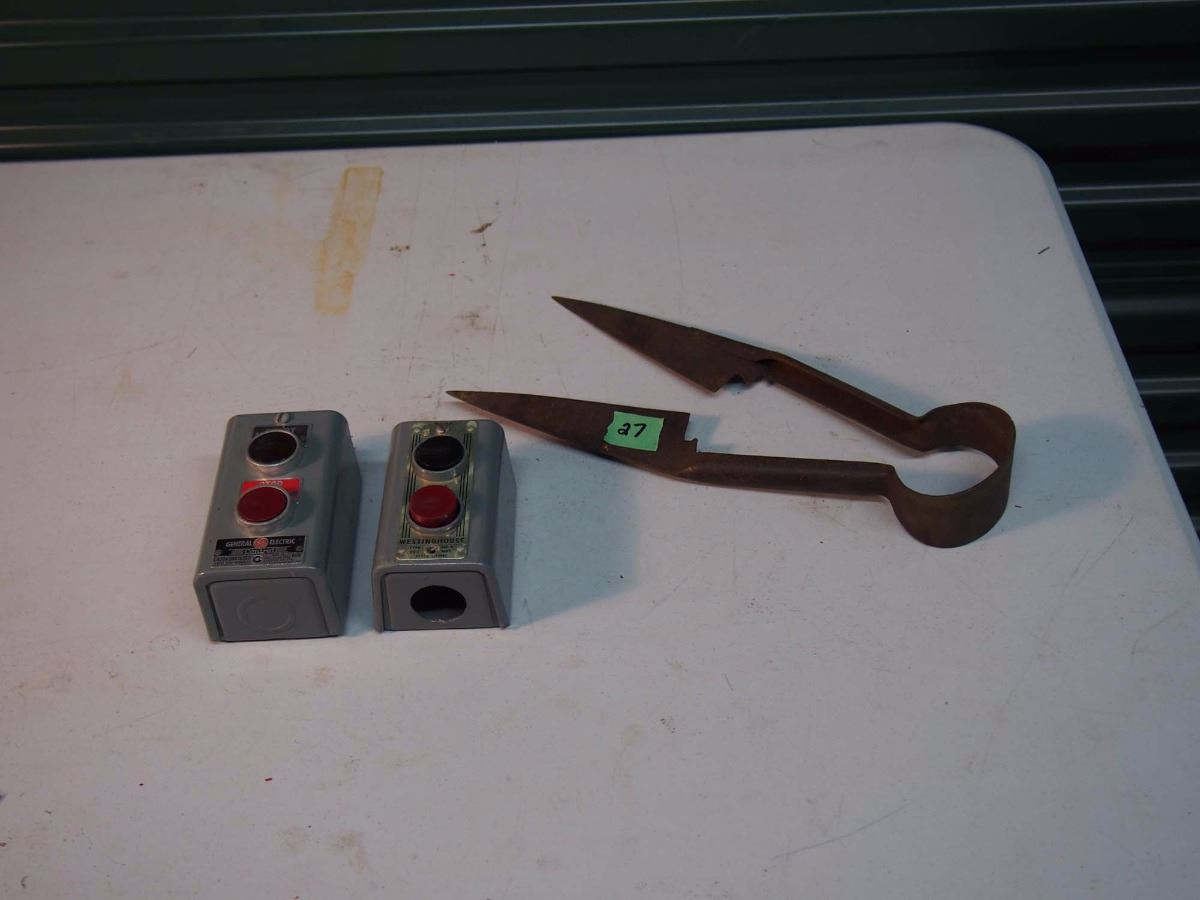 metal sheep shears electric motor start stop switches 2