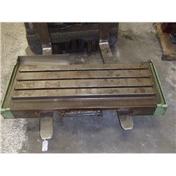 "Steel 3 Slot T-Slot Milling Table, 43"" x 13.5"" x 2"""