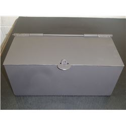"Steel Lockable Box, 14"" x 6"" x 6"""