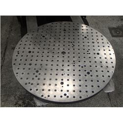 "29.5"" Steel Drilled and Tapped Machining Plate"