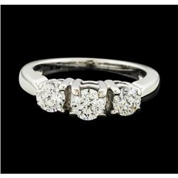 18KT White Gold 1.00ctw Diamond Ring