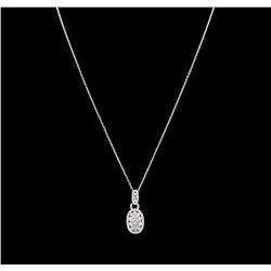 14KT White Gold 1.15ctw Diamond Pendant With Chain