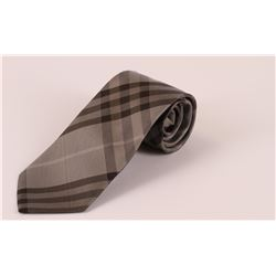 Authentic Grey Plaid Burberry Tie