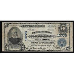 1902 $5 Chatham Phoenix National Bank & Trust Company New York National Currency