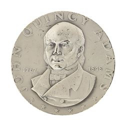 1972 John Quincy Adams Medallic Art Co N.Y. 2.06 oz .999 Fine Silver Medal