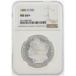 1885-O $1 Morgan Silver Dollar Coin NGC MS66+