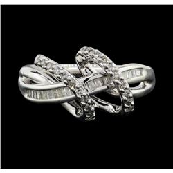 Silver 0.30ctw Diamond Ring