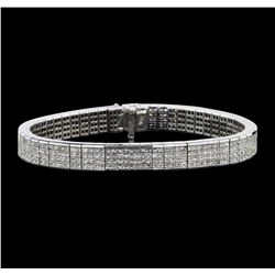 18KT White Gold 10.50ctw Diamond Bracelet