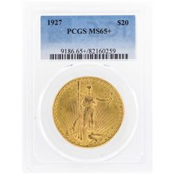 1927 $20 St. Gaudens Double Eagle Gold Coin PCGS MS65+