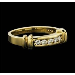 14K Yellow Gold 0.25ctw Diamond Ring