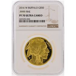 2016-W $50 1 oz Proof Gold Buffalo Coin NGC PF70 Ultra Cameo