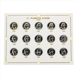 1950-1964 Washington Quarters Proof Set Coins