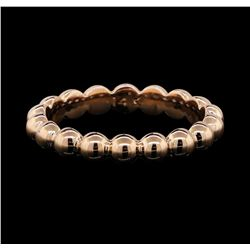 14KT Rose Gold Beaded Band Ring