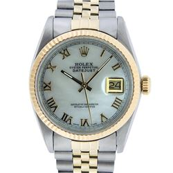 Rolex Mens 14KT Two Tone Gold Datejust Wristwatch