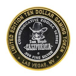 .999 Fine Silver Sam Boyd's California $10 Casino Limted Edition Gaming Token