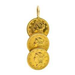 U.S. $1 Liberty Gold (3) Coin Pendant