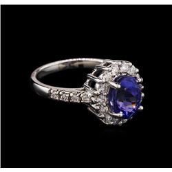 14KT White Gold 2.52ct Tanzanite and Diamond Ring