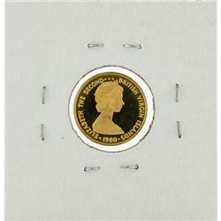 1980 $50 British Virgin Islands Gold Proof Coin