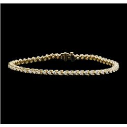 14KT Yellow Gold 2.00ctw Diamond Tennis Bracelet