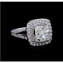 14KT White Gold GIA Certified 3.72ctw Diamond Ring