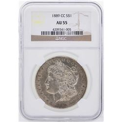 1889-CC $1 Morgan Silver Dollar Coin NGC AU55