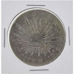 1887 MM Mexico 8 Reales Silver Coin KM 377.2