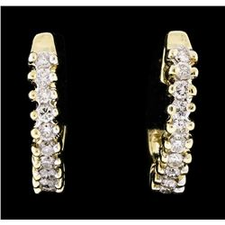 14KT Yellow Gold 0.52ctw Diamond Earrings