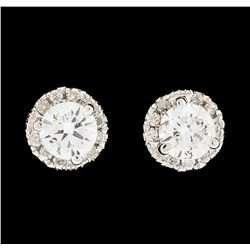 18KT White Gold 0.50ctw Diamond Earrings