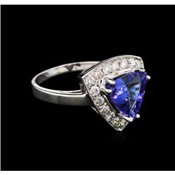 14KT White Gold 1.89ct Tanzanite and Diamond Ring