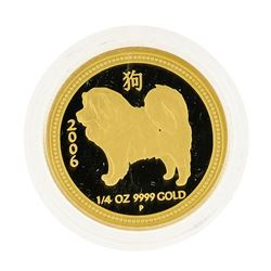 2006 $25 Australia Dog 1/4 oz Gold Coin
