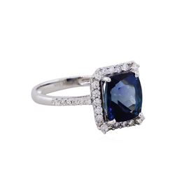 14KT White Gold 3.48ct Tanzanite and Diamond Ring