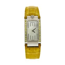 Ladies Movado Elliptica Wristwatch with Yellow Gemstone Dial