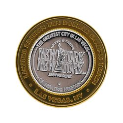 .999 Silver New York-New York Las Vegas $10 Casino Gaming Token Limited Edition