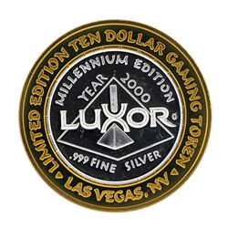 .999 Fine Silver The Luxor Las Vegas, Nevada $10 Casino Limted Edition Gaming To