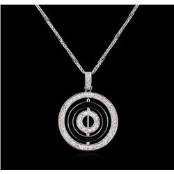14KT White Gold 0.63ctw Diamond Pendant With Chain