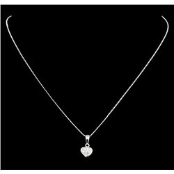 14 and 18KT White Gold 0.25ctw Diamond Pendant with Chain