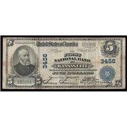 1902 $5 The First National Bank of Kansas City National Currency Note