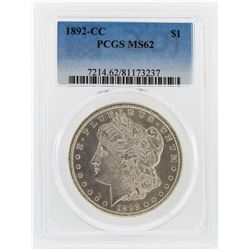 1892-CC $1 Morgan Silver Dollar Coin PCGS Graded MS62