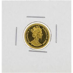 2000 Gibraltar Royal 1/10 Gold Coin