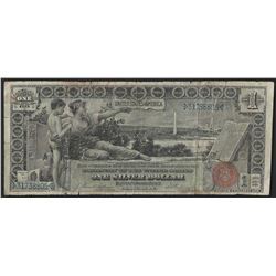 1896 $1 Silver Certificate Educational Note- Damaged
