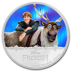 2016 $2 Disney Frozen Kristoff & SVEN .999 Fine Silver Proof Coin