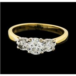 14KT Yellow Gold 1.06ctw Diamond Ring