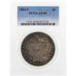 1884-S $1 Morgan Silver Dollar Coin PCGS AU50