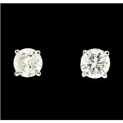 14KT White Gold 1.15ctw Diamond Earrings