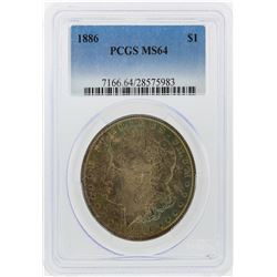 1886 $1 Morgan Silver Dollar PCGS Graded MS64