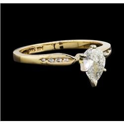 14KT Yellow Gold 0.56ctw Diamond Ring