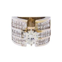 18KT White Gold 5.63ctw Diamond Engagement Ring